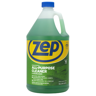 Gallon, zep commercial, all purpose cleaner  degreaser concentrate, makes up to 32 gallons, non-toxic, fresh clean