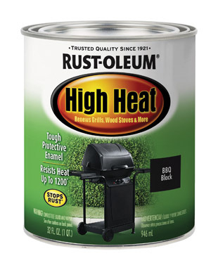 HI-HEAT PAINT BLK  QT