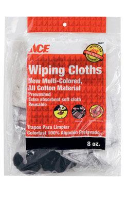 WIPING CLOTHS ASSTD 8OZ
