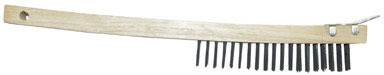 WIRE BRUSH 3X19 W/SCRPR