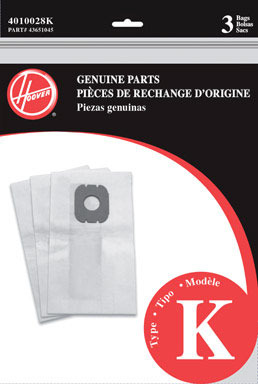 VAC BAG TYPE K PK3