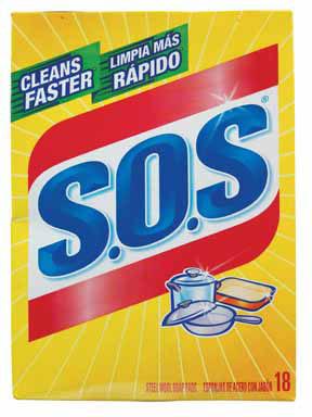 SOS SCRUBBER PADS 18PK