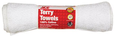 TERRY TOWEL WHT ROLL/6
