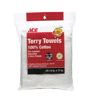 TERRY TOWEL WHT 4PK