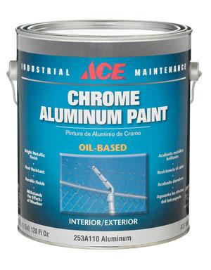 Williams ace hardware gallon chrome finsh aluminum for Chrome paint price