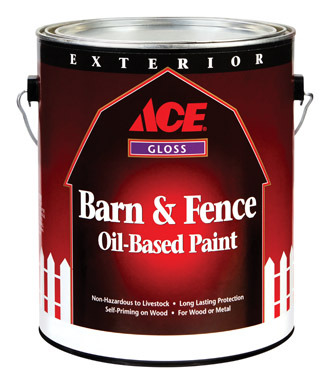 Departments barn fence oil red gl for Oil based fence paint