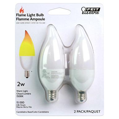 LED FLAME EFFCT 2W 2PK