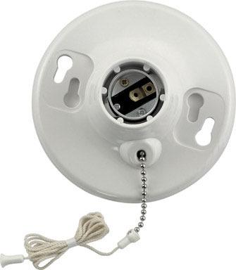 LAMPHOLDR BAKLITE W/CHAI