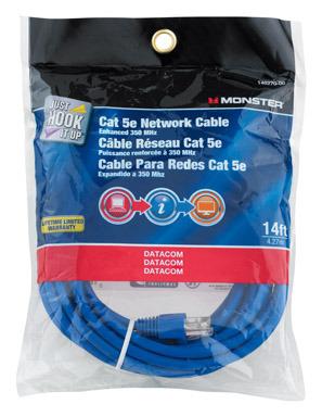 CABLE CAT-5E 14' BLUE