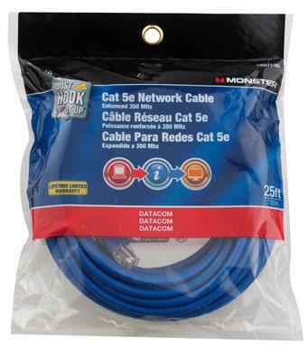 NETWORK CABLE 5E BLU 25'