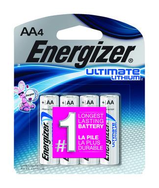 ENERGZR ULT BATT AA CD4