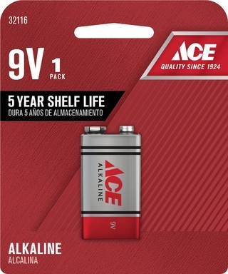 BATTERY-ALKLINE 9V   ACE