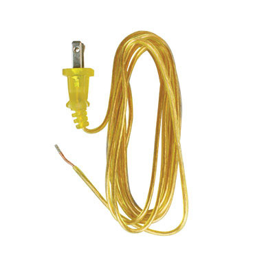 LAMP CORD 8' GOLD PK/1