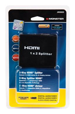 HDMI SPLITTER 2-WAY 1X2