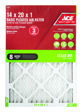 FILTER AIR PLEAT 14X20X1