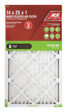 FILTER AIR PLEAT 14X25X1