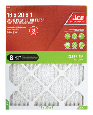 FILTER AIR PLEAT 16X20X1