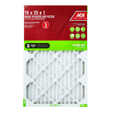 FILTER AIR PLEAT 16X25X1