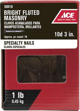 """ACE MASONRY NAIL 10D3""""1#"""