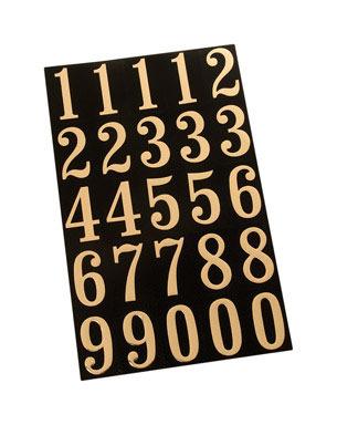 """NUMBER KIT 2"""" GOLD MYLAR"""