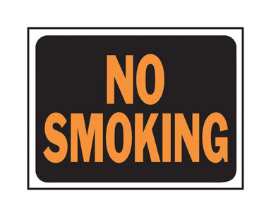 "SIGN NO SMOKING 8.5X12"""
