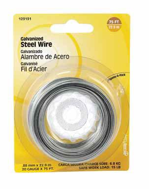 WIRE STEEL GALV 20GA 75'