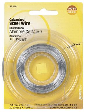 WIRE STEEL GALV 32GA100'