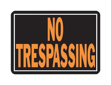 SIGN NO TRESPASS AL #804