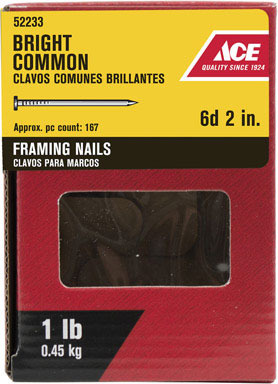 """ACE COMMON NAIL6D 2"""" 1#"""