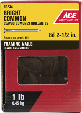 """ACE COMMON NAIL8D 2.5""""1#"""