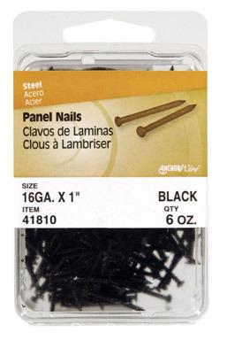 "PANEL NAIL 1"" BLACK 6OZ"