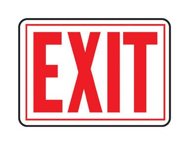 """SIGN EXIT AL 10X14"""""""