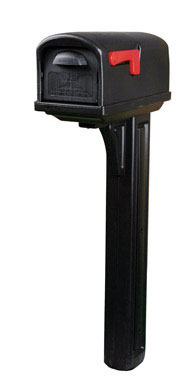 Williams Ace Hardware Classic Mailbox Post Black