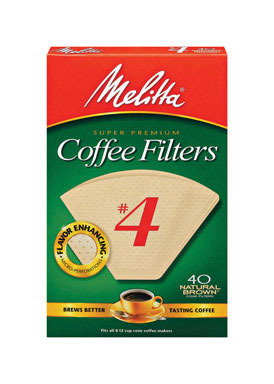 Coffee Filter #4brn 40ct