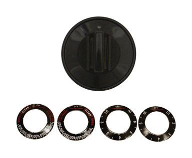 Knob Kit Elec Black 1pk
