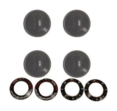 Knob Kit Elec Black 4pk