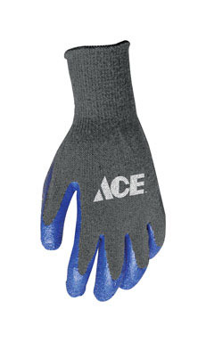 Latex Coated Work Gloves Black/Blue Med
