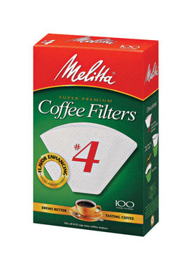 Coffee Filter #4wht100ct
