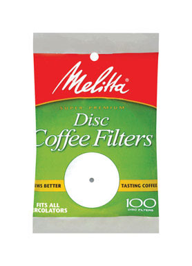 Coffee Fltr Disc Wh100ct