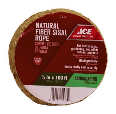 "ROPE SISAL 1/4""X100'"
