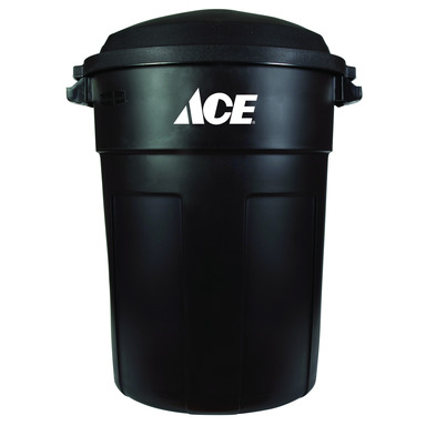 Top Categories Trash Can 32gal Blk Ace