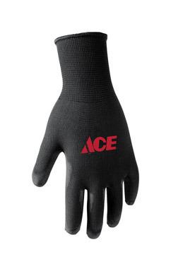 Polyurethane Coated Work Gloves Black Med