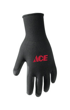 Polyurethane Coated Work Gloves Black Lg