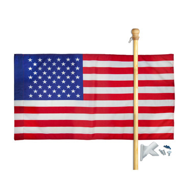 US FLAG SET NYLON2.5X4FT