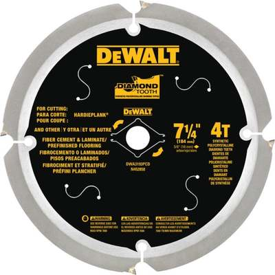 "7-1/4"" DIAMOND BLADE FIBER BOARD"