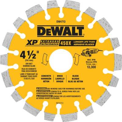"4-1/2"" SEGMENTED DIAMOND BLADE"