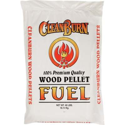 CLEAN BURN WOOD PELLETS 40LB