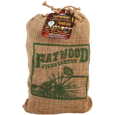 8LB FATWOOD BURLAP BAG
