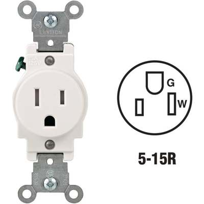 OUTLET - SINGLE 15A / WH