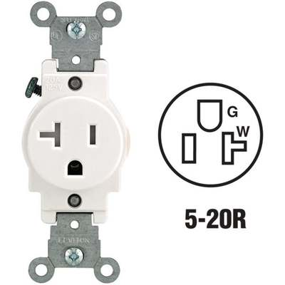 OUTLET - SINGLE 20A / WH